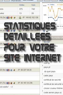 Statistiques détaillées pour votre site internet