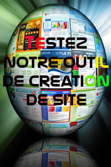 Testez notre outil de cr�ation de site web