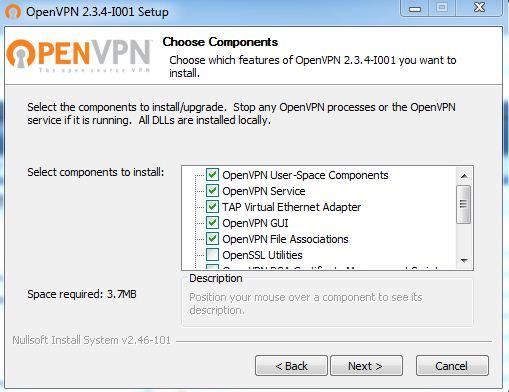 Installation du client VPN par défaut